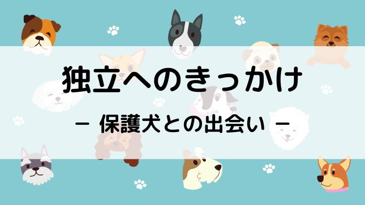 独立へのきっかけ - 保護犬との出会い -